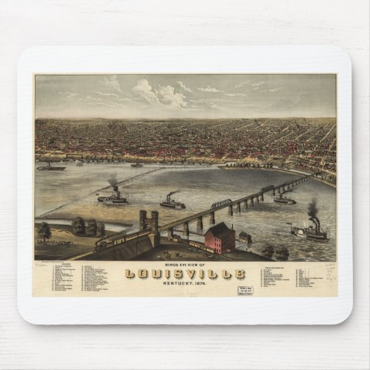 Louisville, Kentucky in 1876 Mouse Pad