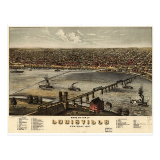 Louisville, Kentucky in 1876 Postcard