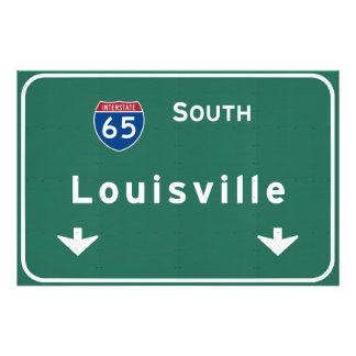 Louisville Kentucky kt Interstate Highway Freeway Photo Print