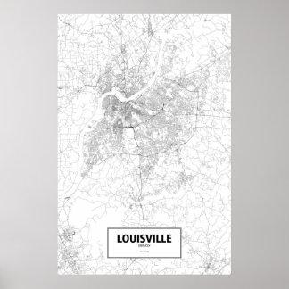 Louisville, Kentucky (negro en blanco) Posters