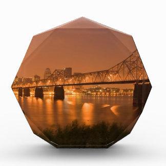 Louisville Kentucky Night Lights Bridge Ohio River Award