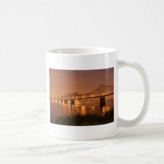 Louisville Kentucky Night Lights Bridge Ohio River Coffee Mug