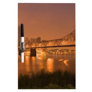 Louisville Kentucky Night Lights Bridge Ohio River Dry Erase Board