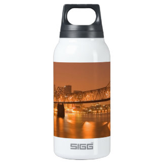 Louisville Kentucky Night Lights Bridge Ohio River Insulated Water Bottle