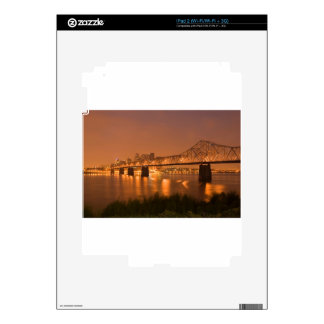 Louisville Kentucky Night Lights Bridge Ohio River Skin For iPad 2