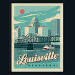 "Louisville, Kentucky Postcard<br><div class=""desc"">Anderson Design Group is an award-winning illustration and design firm in Nashville,  Tennessee. Founder Joel Anderson directs a team of talented artists to create original poster art that looks like classic vintage advertising prints from the 1920s to the 1960s.</div>"