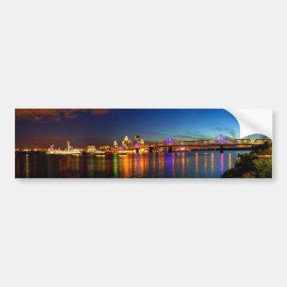 Louisville Kentucky Skyline Bumper Sticker Car Bumper Sticker