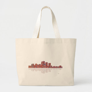 Louisville Kentucky Skyline Large Tote Bag