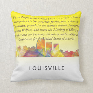 LOUISVILLE, KENTUCKY SKYLINE WB1 - THROW PILLOW