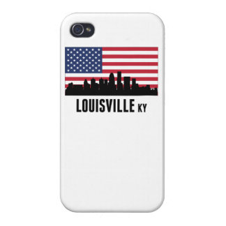 Louisville KY American Flag Covers For iPhone 4