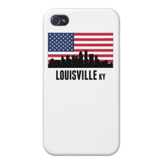 Louisville KY American Flag iPhone 4 Case