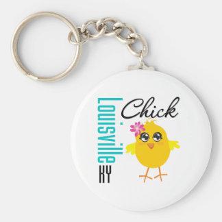 Louisville KY Chick Basic Round Button Keychain