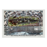 Louisville, KY Panoramic Map - 1883 Poster