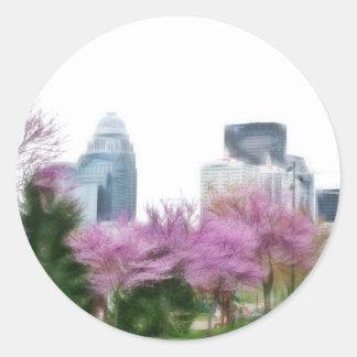 Louisville KY Pegatina Redonda