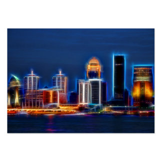 Louisville Ky skyline Large Business Cards (Pack Of 100)