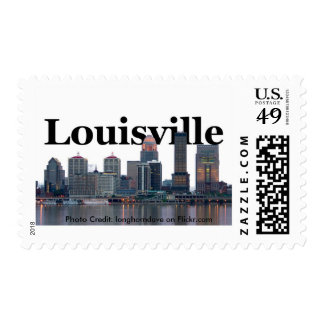 Louisville KY Skyline with Louisville in the Sky Postage