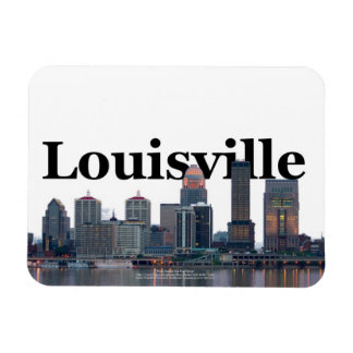 Louisville KY Skyline with Louisville in the Sky Rectangular Photo Magnet