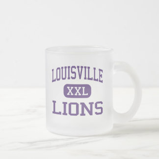 Louisville - Lions - High - Louisville Nebraska Frosted Glass Coffee Mug