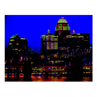 Louisville Neon Skyline Postcard