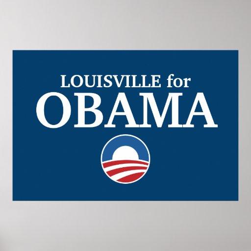 LOUISVILLE para el personalizado de Obama su ciuda Posters