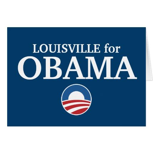 LOUISVILLE para el personalizado de Obama su ciuda Tarjeta