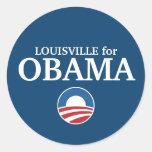 LOUISVILLE para el personalizado de Obama su Pegatina Redonda