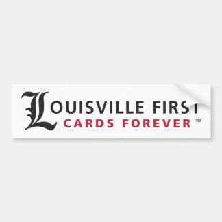 Louisville primero, tarjetas para siempre pegatina para auto