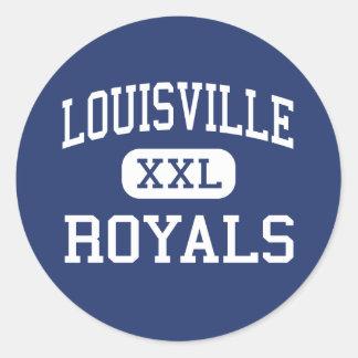 Louisville - Royals - High - Woodland Hills Round Sticker