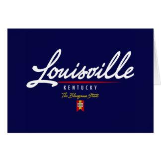 Louisville Script Card