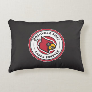 Louisville Seal - Louisville First Cards Forever Decorative Pillow