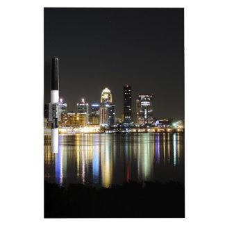 Louisville skyline at night dry erase board