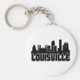 Louisville Skyline Basic Round Button Keychain
