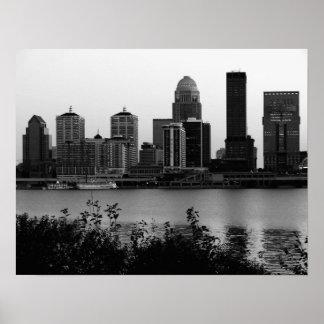 Louisville Skyline Black & White Print