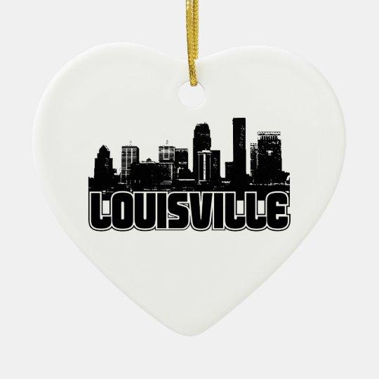 Louisville Skyline Ceramic Ornament