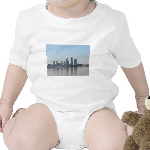 Louisville skyline during the day baby bodysuit