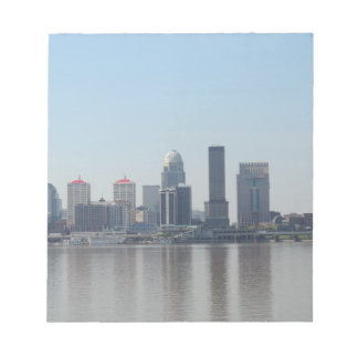Louisville skyline during the day note pads