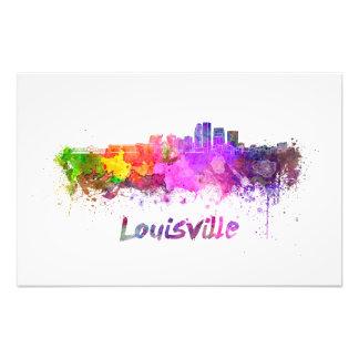 Louisville skyline in watercolor photo print