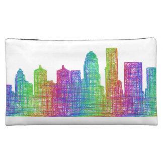 Louisville skyline makeup bag