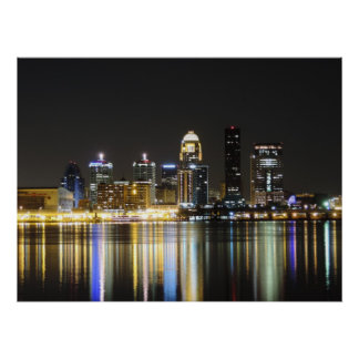 Louisville skyline print