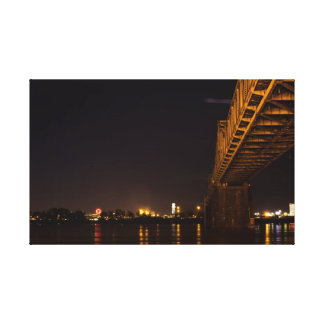 Louisville Waterfront at Night Canvas Print