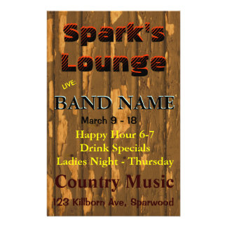 Lounge, Bar Tavern Live Music Flyer