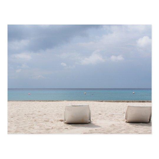 Lounge By the Ocean in Cozumel Postcard