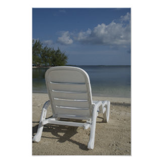 Lounge Chair on Tropical Beach Poster