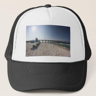 Lounge Chairs at Panama City Beach Pier Trucker Hat