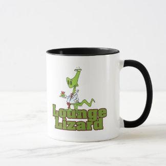 lounge lizard cartoon mug