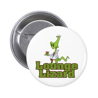lounge lizard cartoon pinback button
