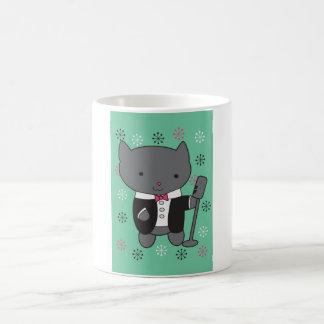 Lounge Singer Cat Coffee Mug