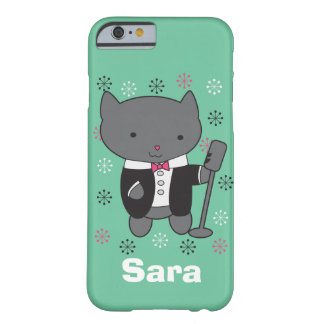 Lounge Singer Cat Customizable Barely There iPhone 6 Case
