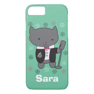 Lounge Singer Cat Customizable iPhone 7 Case