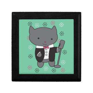 Lounge Singer Cat Trinket Box